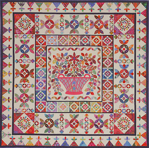 Flower Basket Medallion from Glorious Color - quilt fabric and ...