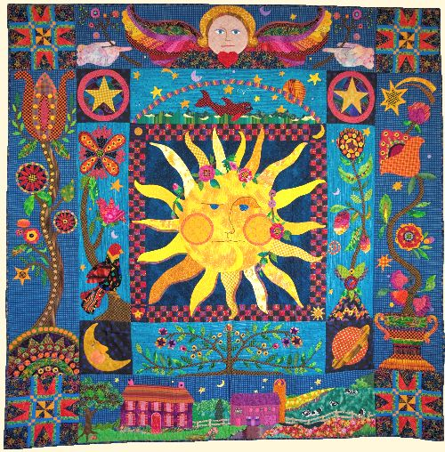 Celestial dream applique pattern from glorious color for Celestial pattern fabric